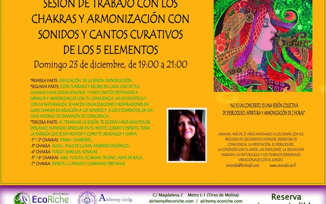 Sesión Chakras y Armonización.