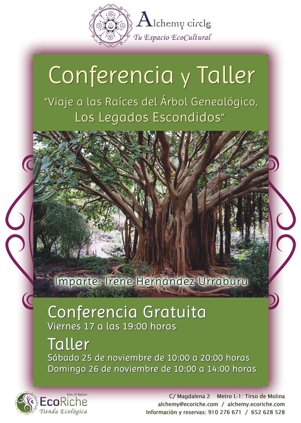 Conferencia y Taller «Viaje a las Raíces del Árbol Genealógico, Los Legados Escondidos»