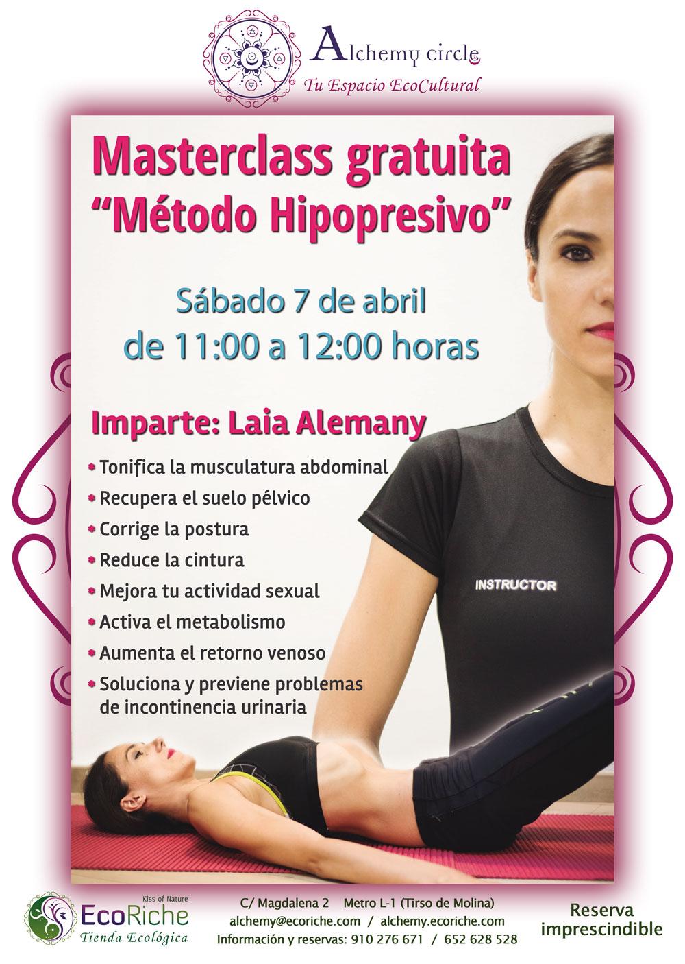 Masterclass gratuita «Método Hipopresivo»